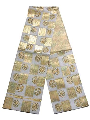 献身知覚できるカトリック教徒リサイクル 袋帯 市松に華文や源氏香 正絹 六通