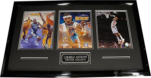 Carmelo Anthony UnSigned Three 8x10 Photos Custom Framed Denver Nuggets