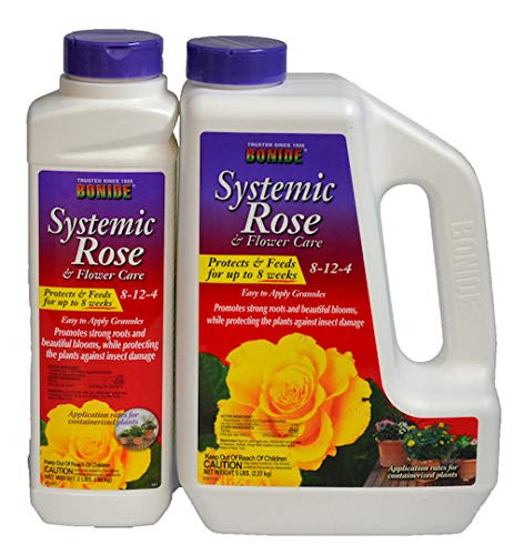 Imidacloprid Insecticide + 8-12-4 Fertilizer Systemic Rose And Flower Care 5 Lbs Not For Sale To: DC by Bonide