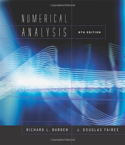 Numerical Analysis (Available Titles CengageNOW)