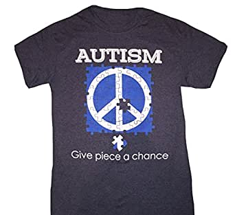 Autism Awareness Give Piece a Chance Puzzle T-Shirt ...