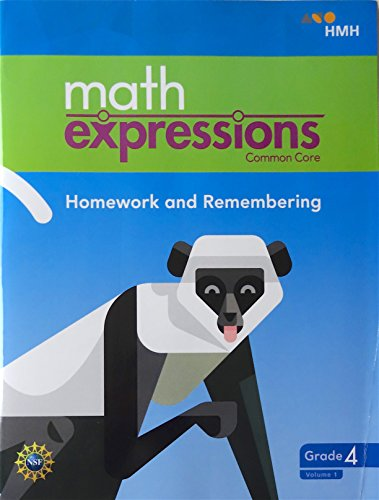math expressions 2018 Homework and Remembering Grade 4 Volume 1