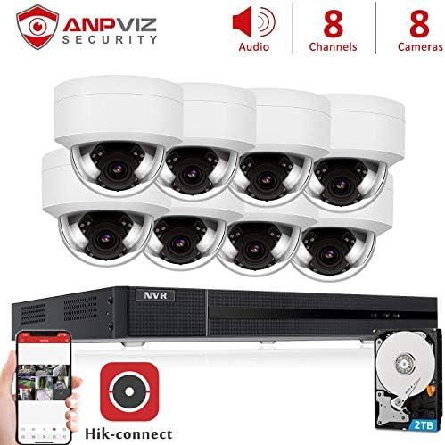 Anpviz 8CH 5MP PoE Home Security Cameras System