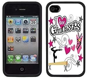 Wishing Gymnastics Gymnast Handmade iPhone 4 4S Black Case