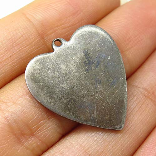 Antique Coro 925 Sterling Silver Heart Pendant Jewelry Making Supply by Wholesale ()