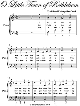 O Little Town of Bethlehem Easy Elementary Piano Sheet Music - Kindle edition by Christmas Carol ...