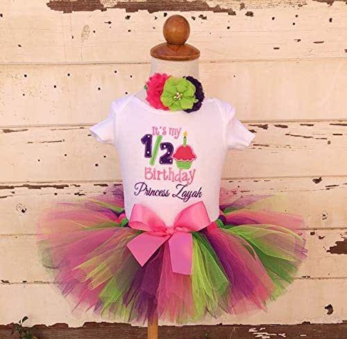 6 Month Outfit Half Birthday Baby Tutu Outfit 1//2 Birthday Photo Shoot Outfit