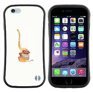 "Pulsar iFace Series Tpu silicona Carcasa Funda Case para Apple (4.7 inches!!!) iPhone 6 Plus / 6S Plus ( 5.5 ) , Feliz animal lindo Blanca"""