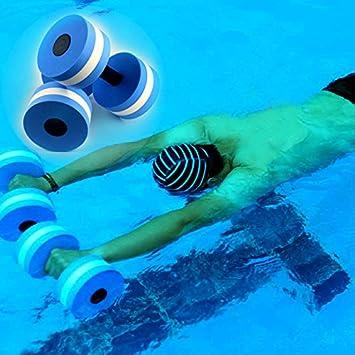 EVA agua flotante pesas ejercicio aeróbico hombres y mujeres equipo de natación con mancuernas de agua agua fitness yoga pesa: Amazon.es: Deportes y aire ...