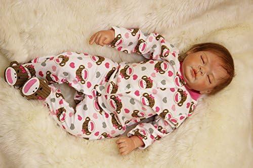 ZIYIUI 22 55 cm Reborn Baby Dolls Soft Vinyl Silicone Reborn Doll Lifelike Girls Newborn Realistic Childrens Touch Playmate EN71 Certification