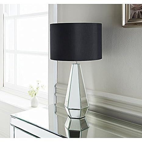 Nuevo estilo Cara con espejo lámpara de mesa habitación decoración ...