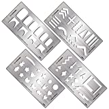 nail making - BMC 4pc DIY Decal Making Nail Stamping Metal Guide Templates
