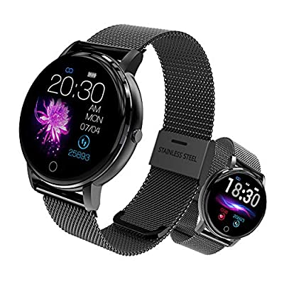 Aipinvip Sport Smart Watch, Activity Fitness Tracker Waterproof with Heart Rate Monitor Sleep Tracker Step Counter IP68 Waterproof,for Men Women (Black)