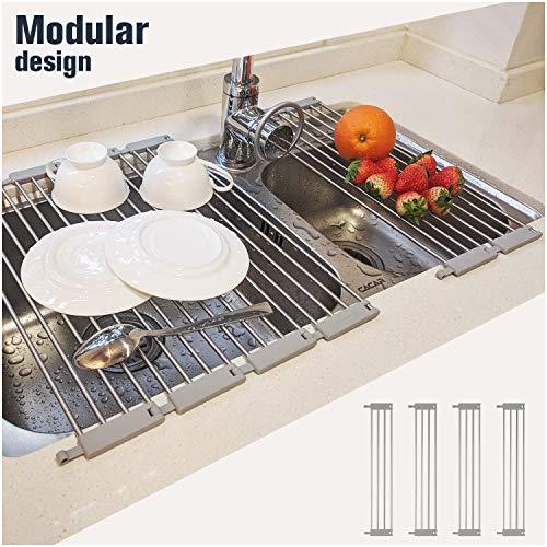 Hahahome Modular Over the Sink Dish Drying Rack | Detachable