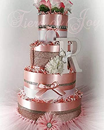Swell Amazon Com Pink Silver Diaper Cake Tutu Beads Flower Cake Birthday Cards Printable Benkemecafe Filternl