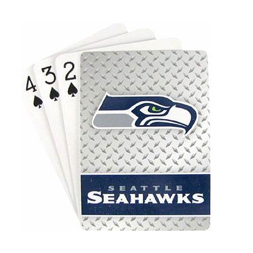 Pro Specialties Group NFL Seattle Seahawks Diamond Plate Playing Cards