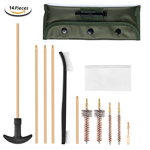 Xage M16 and AR-15 Field Cleaning Kit – Gun Cleaning Set for All M16/AR-15/M4 Variants/Mil-Spec Quality with Carrying (Buttstock Guide)
