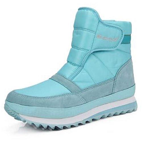 Mujeres Plataforma Caliente Suave botín Antideslizante en Pisos Nieve Zapatos cuña Impermeable Botas para la Nieve: Amazon.es: Zapatos y complementos