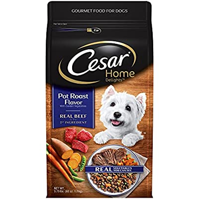 Cesar Small Breed Dry Dog Food, Home Delights Slow Roasted Chicken Flavor with Garden Vegetables 3.75 Pounds