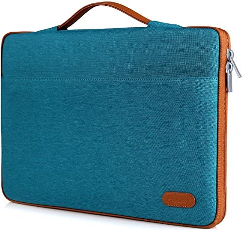 "ProCase 14-15.6 Inch Laptop Sleeve Case Protective Bag, Ultrabook Notebook Carrying Case Handbag for MacBook Pro 16"" / 14"" 15"" 15.6"" Dell Lenovo HP Acer Samsung Sony Chromebook Computer –Teal"