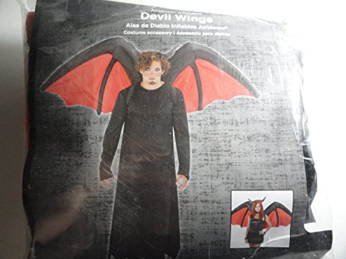Fat Girl Costume Walmart (Gemmy Airblown Inflatable Black Devil Wings with Red Accents - Indoor Outdoor Holiday Decoration, Approximately 5.5-foot Wide)