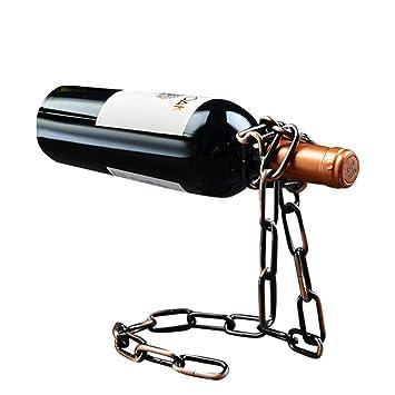 shengshiyujia Estante del Vino-Vino Estante Creativo del Vino Estante Vintage Hierro Labrado Ornamentos Vino Rack: Amazon.es: Hogar