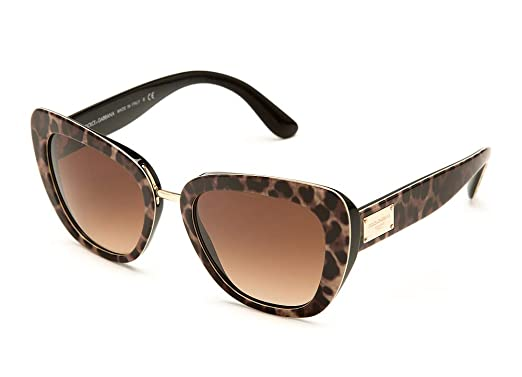4e87cee0493 Image Unavailable. Image not available for. Color  Dolce   Gabbana DG4296  502 13 Havana Butterfly Sunglasses ...