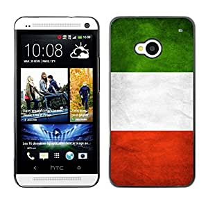 LJF phone case Shell-Star ( National Flag Series-Italy ) Snap On Hard Protective Case For HTC One (M7)