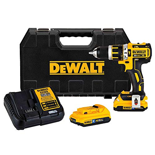 Dewalt DCD795D2BTR 20V MAX XR Lithium-Ion Compact Brushless 1/2 in. 2-Speed Hammer Drill Kit w/ToolConnect 2.0 Ah Batteries (Renewed)