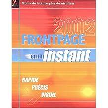 FRONTPAGE 2002 EN UN INSTANT