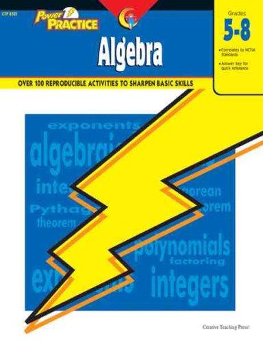 Read Online Power Practice: Algebra, Gr. 5-8 pdf