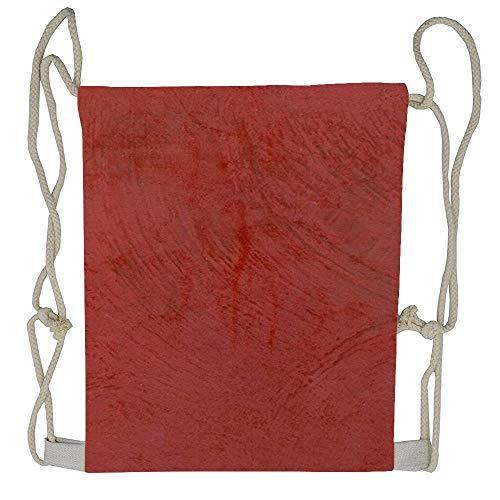 CardlyPhCardH Tuscan Red Venetian Plaster Drawstring Bag Backpack 1 Pieces Drawstring Bag Tote Kids Adults Storage Bag for Gym Traveling
