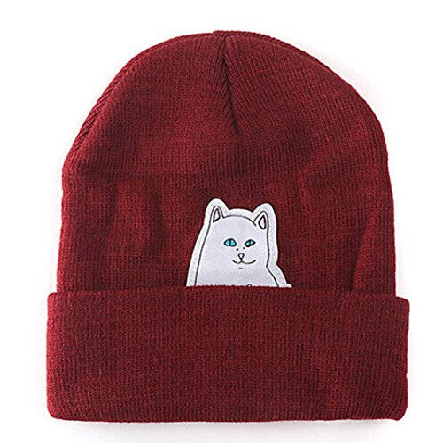 MIOIM Middle Finger Beanie Knitted