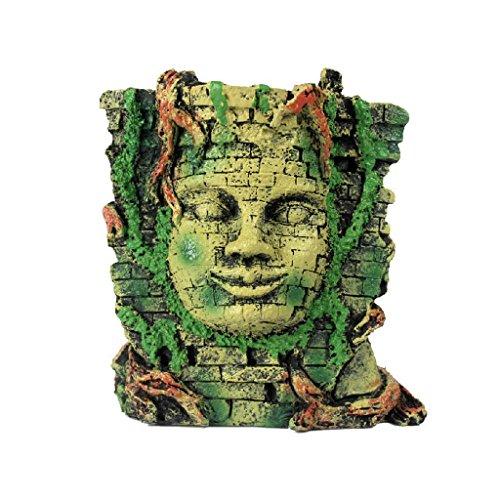 - Mayan Mask Aquarium Decor Island Reptile Terrarium Vivarium Ornament Lizard Snake Hide Cave