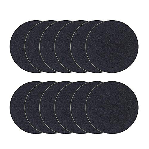 TOOGOO 12 Pack Charcoal Filters for Kitchen Compost Pail Replacement Filter Countertop Home Bucket Refill Sets, Round ()