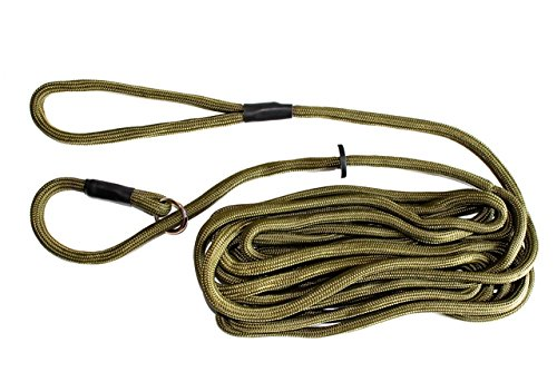 Dog & Field Training Lead - 20 Ft Long Training/Exercise Lead - Soft Braided Nylon