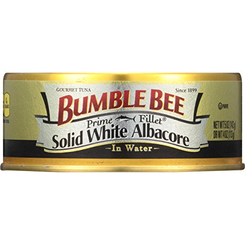 Bumble Bee Prime Fillet Solid White Albacore Tuna In Water, 5 Ounce Cans, 24 Count