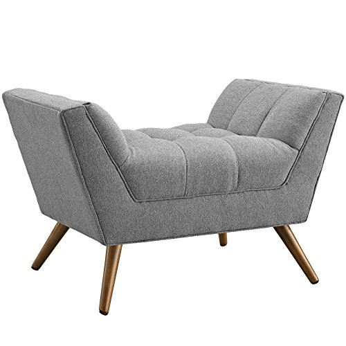 Modway Response Mid-Century Modern Ottoman Upholstered Fabric in Expectation - Modern Ottoman Upholstered
