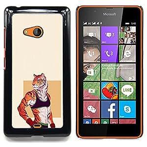 Ihec Tech Chica Tigre Sexy;;;;;;;; / Funda Case back Cover guard / for Nokia Lumia 540
