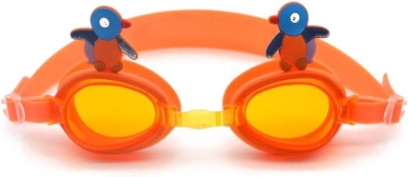 SWJJ Gafas de natación para niños Soft Seal Protección contra la Niebla y UV y Broche de Ajuste rápido Gafas de natación