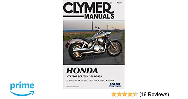 amazon com clymer repair manual for honda vtx1300 c r s t 03 09 rh amazon com 2007 Honda VTX 1800C 2007 honda vtx 1300 service manual