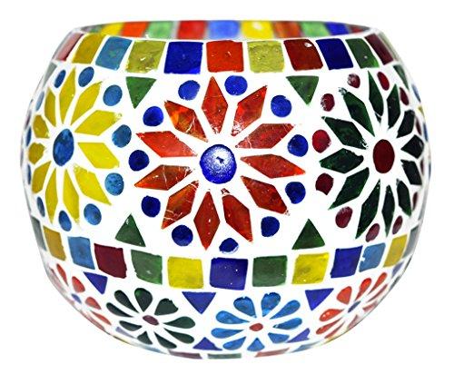 Lalhaveli Vintage Handmade Glass Flower Vase & Votive Candle Holder Item 5 Inches