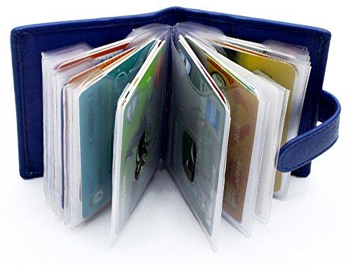Starhide Morbido Maniche 210 Titolare Genuino Blu Della In Del Pelle Rimovibili Di Credito Raccoglitore Carta Con Plastica wwr7dBZq