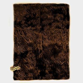 Amazon Com Flokati Faux Fur Rugs 5 X 8 Dark Brown