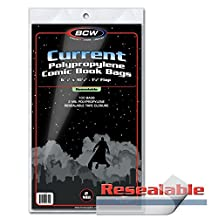500 Current Age Size Resealable Comic Book Bags by BCW