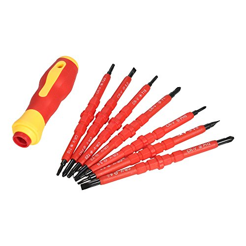 KKmoon 7 in 1 1000V Changeable Insulated Screwdrivers Set wi