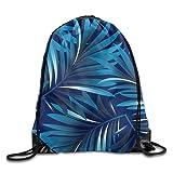 Portable Sport Gym Sack Drawstring Backpack Bag - Fine Plants Pattern