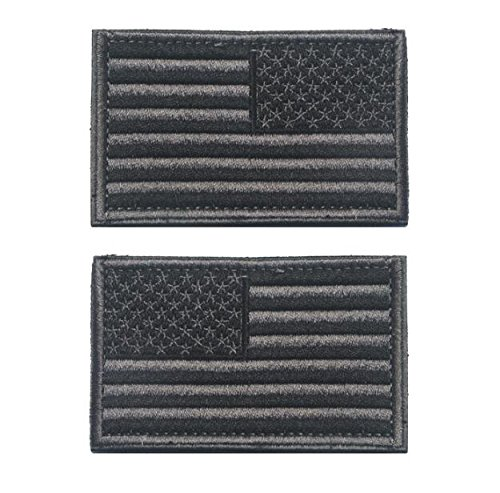 Easyinsmile American Flag Patch Velcro US Flag Embroidery Ar