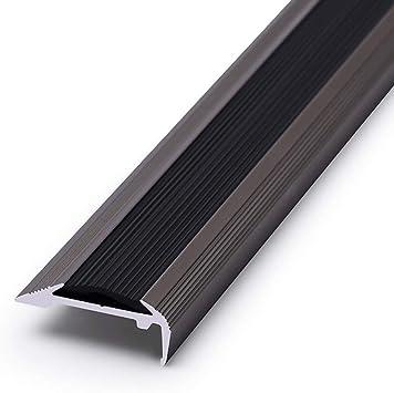Jardines de infantes Mamperlán Edge Paso Nosing aluminio anodizado antideslizante Escalera guarnición de borde de 900 mm for la sala Escaleras, autoadhesivos Stick-Abajo ribete banda de rodadura de: Amazon.es: Bricolaje y herramientas