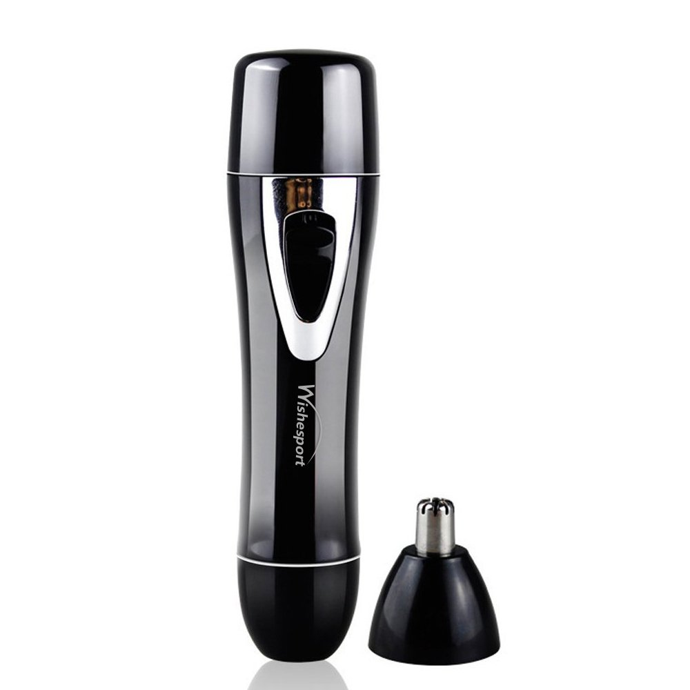 Women\'s Painless Hair Trimmer Remover, 2 in 1 Portable Lady Nose Hair Trimmer,Wishesport USB Rechargeable Electric Epilator with Facial Body Hair Shaver for Women and Men, Black